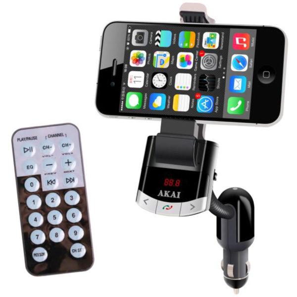 βάση κινητού και φορτιστής αυτοκινήτου με Bluetooth
