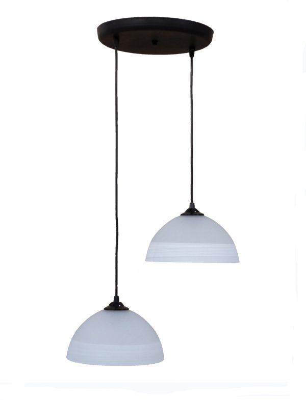 490-02-0234-Φωτιστικό /οροφής ανισόπεδο GL-1020PENDEL 2L BL-WHΙΤΕ 02-0234
