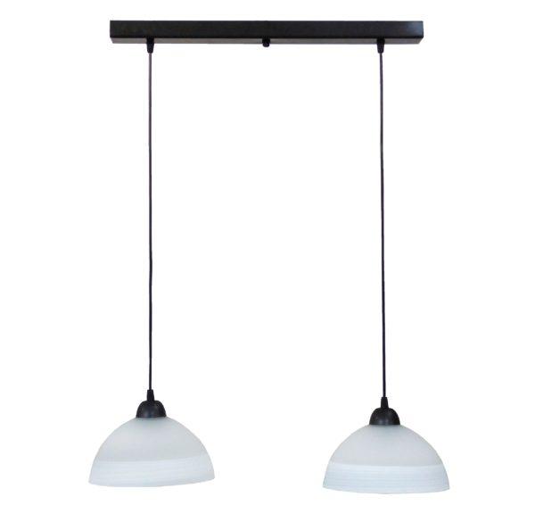490-02-0230-Φωτιστικό /οροφής ράγα  GL-1020RAGA 2L CE BL-WHITE 02-0230