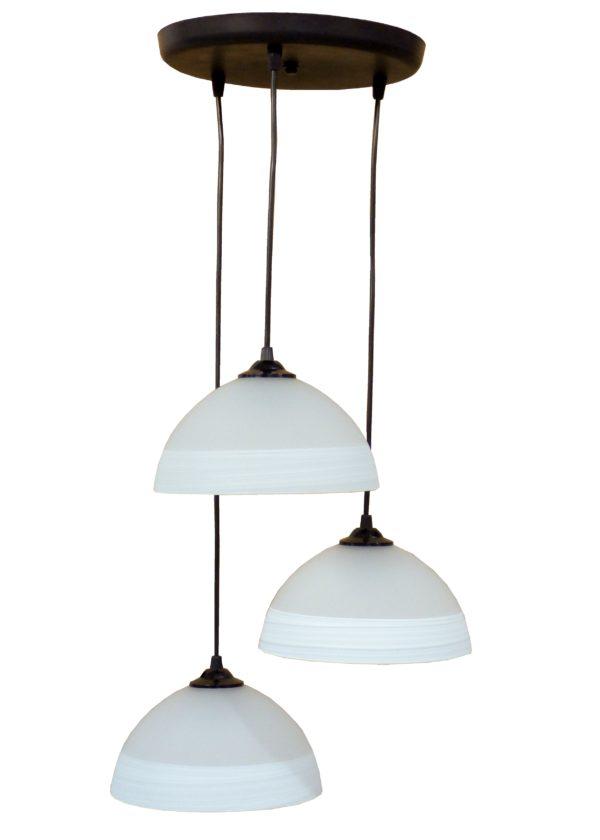 490-02-0236-Φωτιστικό /οροφής ανισόπεδο GL-1020PENDEL 3L BL-WHΙΤΕ 02-0236