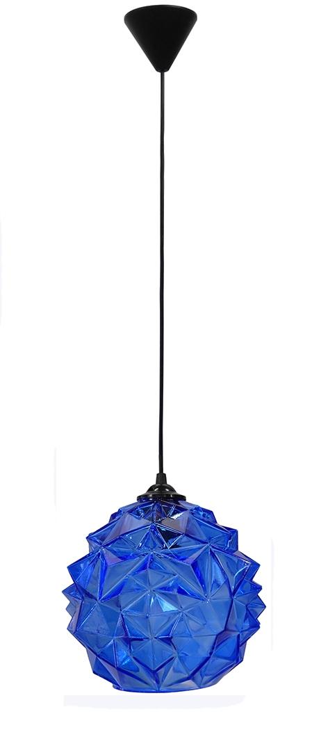 490-02-0218-Κρεμαστό φωτιστικό GL-5020/25 1L BLUE ICE 02-0218