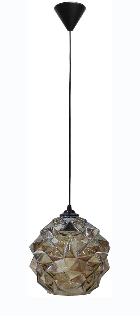490-02-0217-Κρεμαστό φωτιστικό GL-5020/25 1L FUME ICE 02-0217