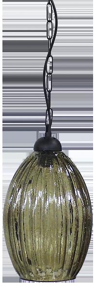 490-02-0265-Φωτιστικό κρεμαστό GL-5040 1L CHAIN BL-FUME 02-0265