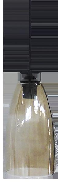 490-02-0271-Φωτιστικό κρεμαστό GL-5050/15 1L  BL-FUME 02-0271