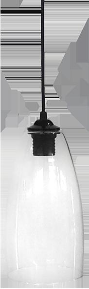 490-02-0272-Φωτιστικό κρεμαστό GL-5050/15 1L  BL-TRANS 02-0272