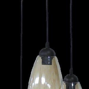490-02-0283-Φωτιστικό GL-5050 PENDEL 3L BL-FUME 02-0283