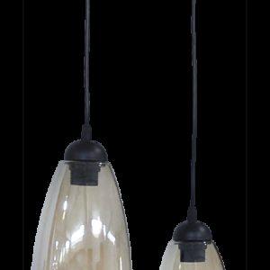 490-02-0280-Φωτιστικό GL-5050 PENDEL 2L BL-FUME 02-0280
