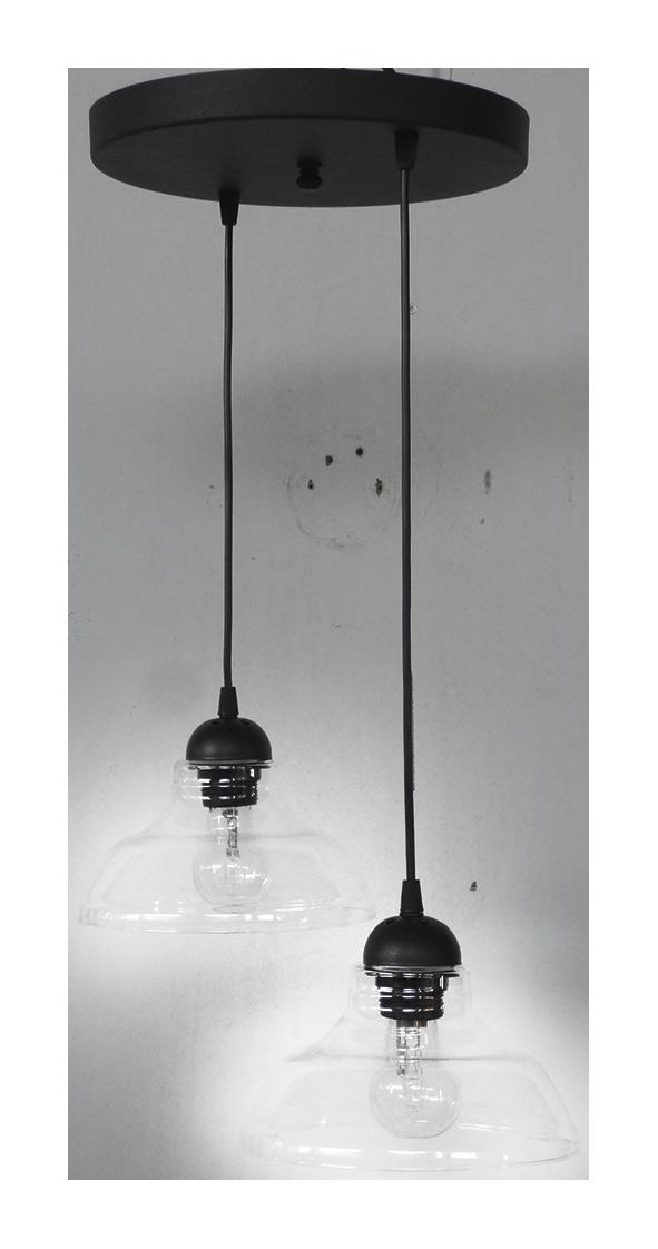 490-02-0260-Φωτιστικό GL-5060 PENDEL 2L BL-TRANS 02-0260