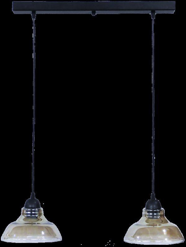 490-02-0253-Φωτιστικό GL-5060 RAGA 2L BL-FUME 02-0253