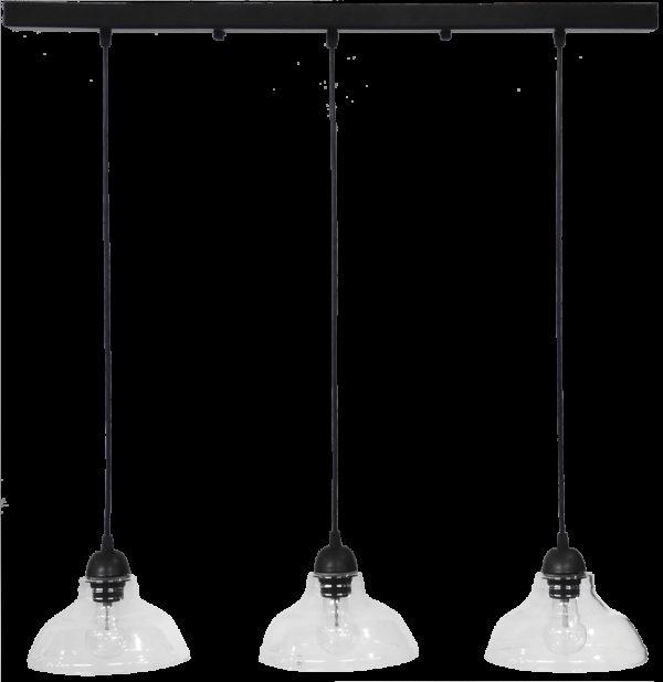 490-02-0257-Φωτιστικό GL-5060 RAGA 3L BL-TRANS 02-0257