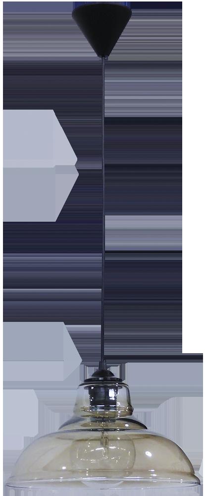 490-02-0250-Φωτιστικό κρεμαστό GL-5060/28 1L FUME 02-0250