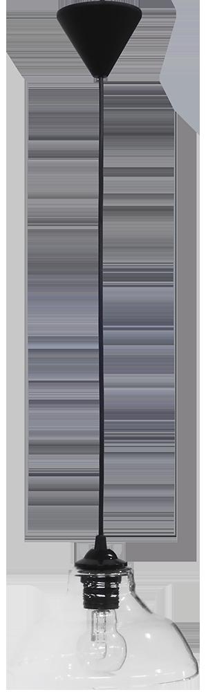 490-02-0248-Φωτιστικό κρεμαστό GL-5060/20 1L BL-TRANS 02-0248