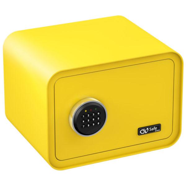 551106452-0002-Olympia GOSAFE100 C GR Κίτρινο Χρηματοκιβώτιο με ηλεκτρονική κλειδαριά 26 x 35 x 28 cm