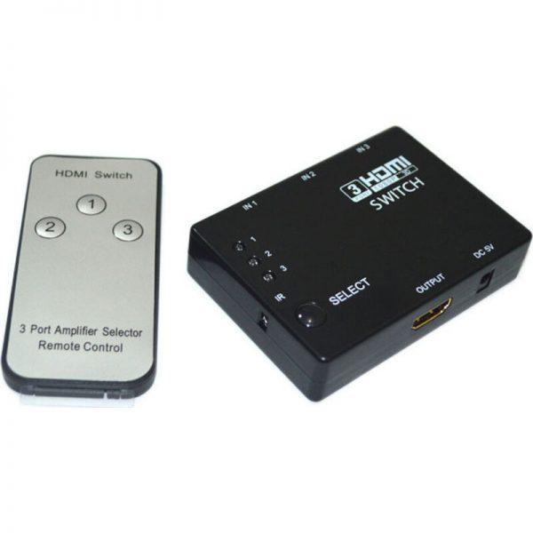 Osio HDVS-310 HDMI switch 3 σε 1 1080p με τηλεχειριστήριο
