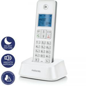 Motorola IT.5.1X White Ασύρματο τηλέφωνο με φραγή αριθμών