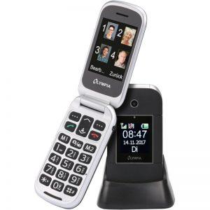 Olympia JANUS GR Μαύρο (Ελληνικό Μενού) Κινητό τηλέφωνο για ηλικιωμένους με κουμπί SOS