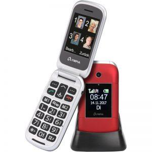 Olympia JANUS GR Κόκκινο (Ελληνικό Μενού) Κινητό τηλέφωνο για ηλικιωμένους με κουμπί SOS