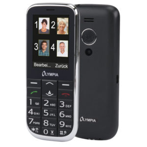 55110687-0018-Olympia JOY II Black GR (Ελληνικό Μενού) Κινητό τηλέφωνο για ηλικιωμένους με κουμπί SOS