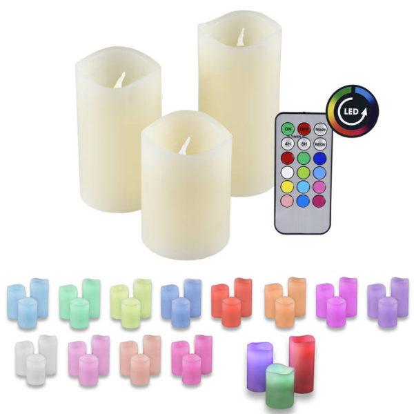 551106103-0032-Olympia IOIO LED 48 Πολύχρωμα κεριά LED με τηλεχειριστήριο