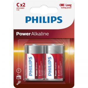 Philips LR14P2B/GRS Αλκαλικές μπαταρίες υψηλής απόδοσης 2 τμχ C