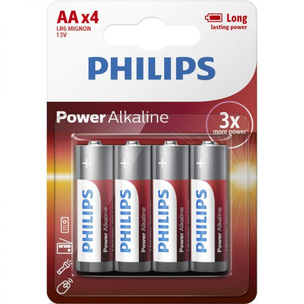 Philips LR6P4B/10 Power Alkaline Αλκαλικές μπαταρίες υψηλής απόδοσης 4 τμχ AA