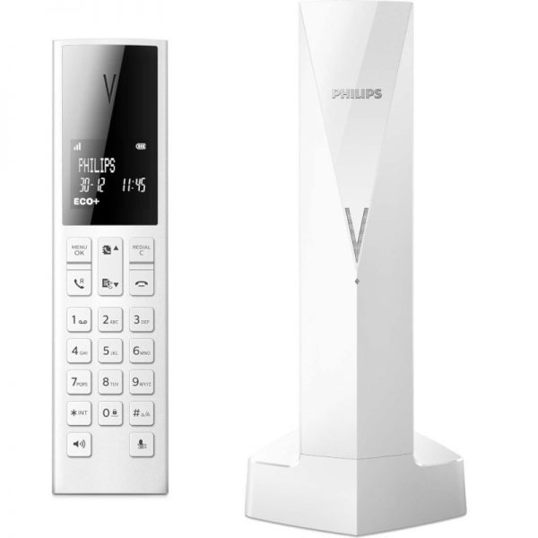Philips M3501W/GRS Λευκό (Ελληνικό Μενού) Ασύρματο τηλέφωνο με ανοιχτή ακρόαση