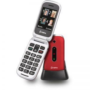 Olympia MIRA GR Κόκκινο (Ελληνικό Μενού) Κινητό τηλέφωνο για ηλικιωμένους με κουμπί SOS