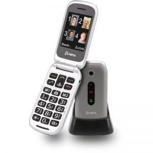 Olympia MIRA GR Ασημί (Ελληνικό Μενού) Κινητό τηλέφωνο για ηλικιωμένους με κουμπί SOS