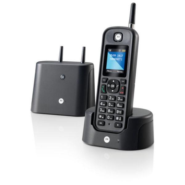5514587-9267-Motorola O-201 BLACK GR (Ελληνικό Μενού) Αδιάβροχο ασύρματο τηλέφωνο με εμβέλεια έως και 1 km