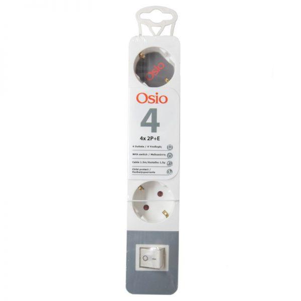 Osio OPS-2004 Πολύπριζο 4 θέσεων με παιδική προστασία