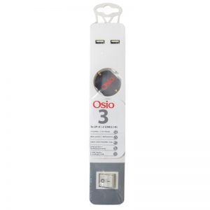 Osio OPS-3003 Πολύπριζο 3 θέσεων με παιδική προστασία