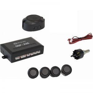 Osio OSP-235 Μαύρο Ματ Αισθητήρες παρκαρίσματος με 4 αισθητήρες 18 mm και buzzer