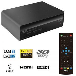 OSIO OST-7075FHD DVB-T/T2 FULL HD MPEG-4 USB 3D EΠIΓEIOΣ ΨHΦIAKOΣ ΔΕΚΤΗΣ