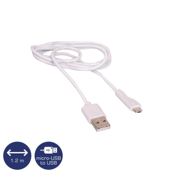 5519491-3950-Osio OTU-395 Λευκό Καλώδιο USB σε micro USB 1.2 m