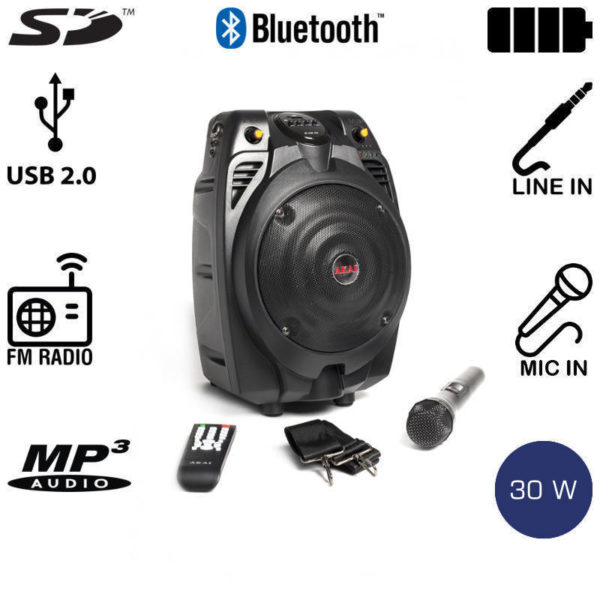 5514882-0226-Akai SS022A-X6 Φορητό ηχείο Bluetooth με ενισχυτή