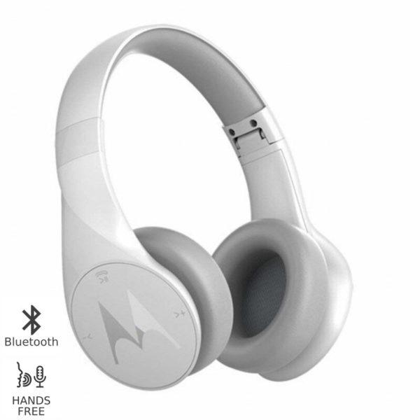 5514591-0002-Motorola PULSE ESCAPE Λευκό Ασύρματα Bluetooth over ear ακουστικά Hands Free