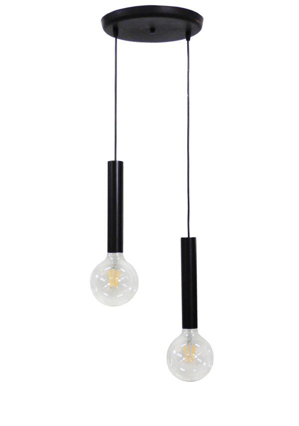 490-34-0192-Φωτιστικό S-42PENDEL 2/L BLACK 34-0192