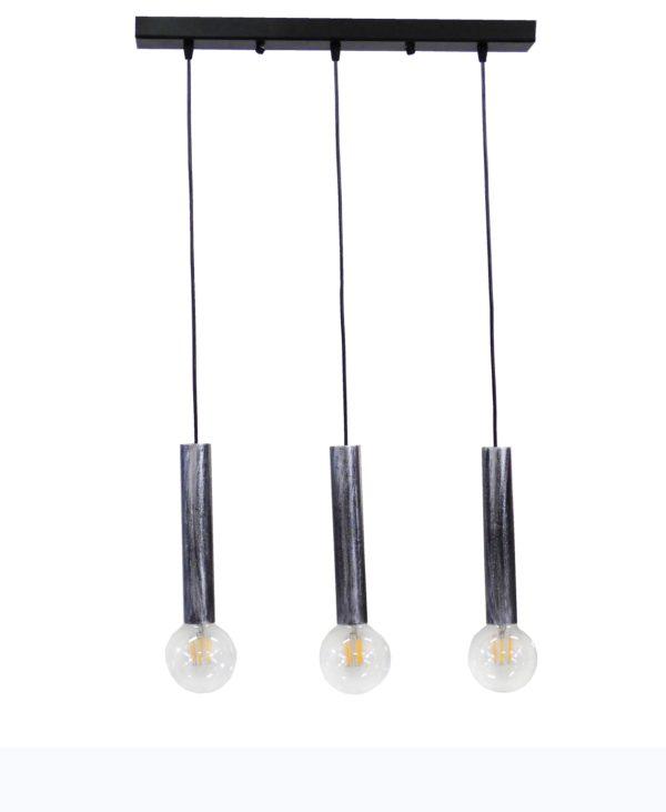 490-34-0203-Φωτιστικό S-42RAGA 3/L SILVER 34-0203