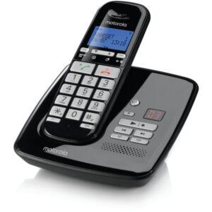 Motorola S3011 BLACK (Ελληνικό Μενού) Ασύρματο τηλέφωνο με τηλεφωνητή συμβατό με ακουστικά βαρηκοΐας