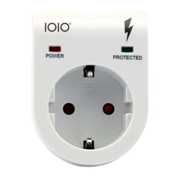 5514549-0167-Olympia IOIO SD 2100S Λευκή μονή πρίζα με προστασία υπέρτασης