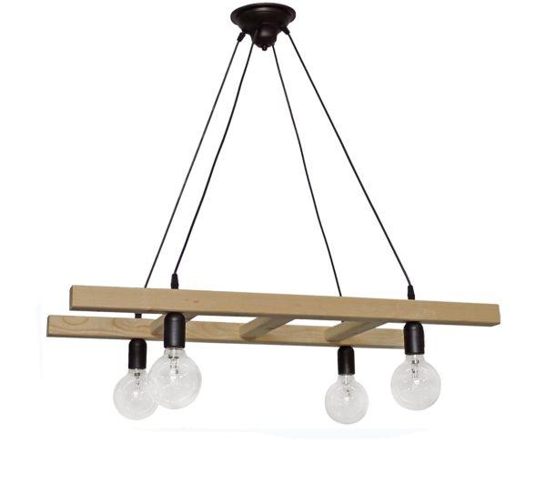 490-31-1047-Φωτιστικό SKALA/4 WOOD CABLE 31-1047