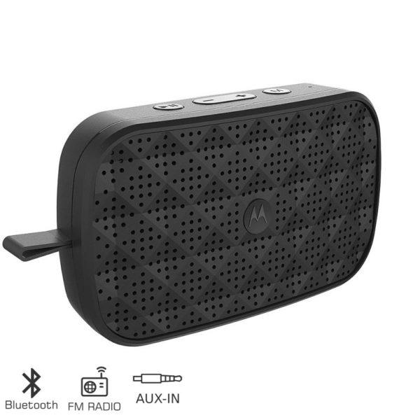 55145300-0001-Motorola SONIC PLAY 150 Φορητό ηχείο Bluetooth με ραδιόφωνο και Aux-In – 1.5 W