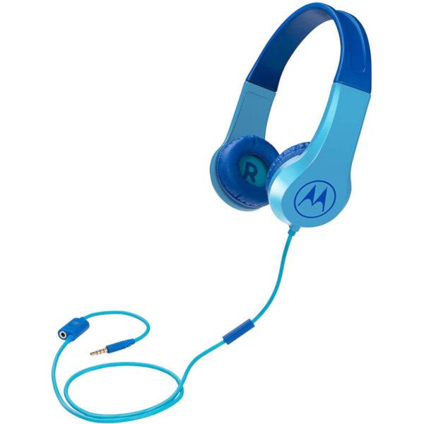 5514591-0017-Motorola SQUADS 200 Blue Οn ear παιδικά ακουστικά Hands Free με splitter