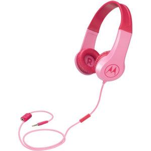 5514591-0018-Motorola SQUADS 200 Pink Οn ear παιδικά ακουστικά Hands Free με splitter