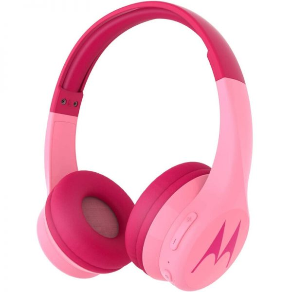 Motorola SQUADS 300 Pink Ενσύρματα / Ασύρματα Bluetooth on ear παιδικά ακουστικά Hands Free με splitter