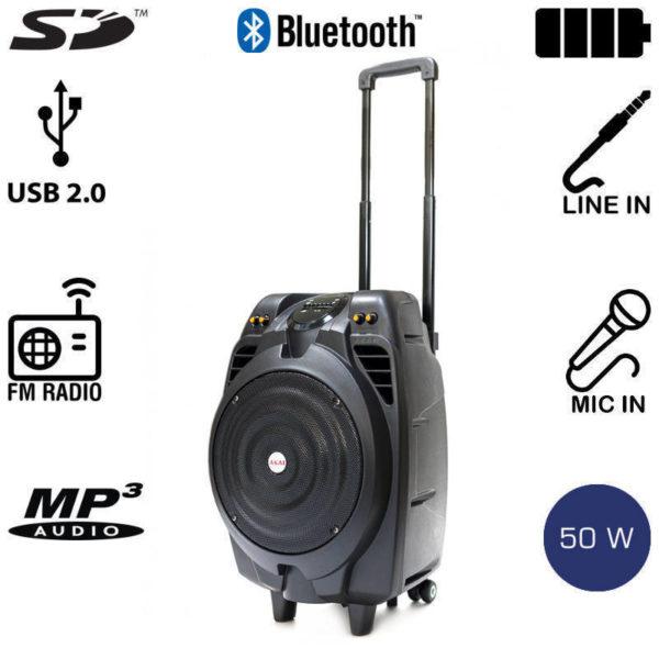 5514882-0231-Akai SS023A-X10 Φορητό ηχείο Bluetooth με ενισχυτή