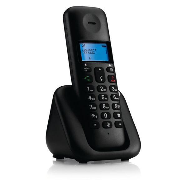 5514587-9237-Motorola T301 Black (Ελληνικό Μενού) Ασύρματο τηλέφωνο με ανοιχτή ακρόαση