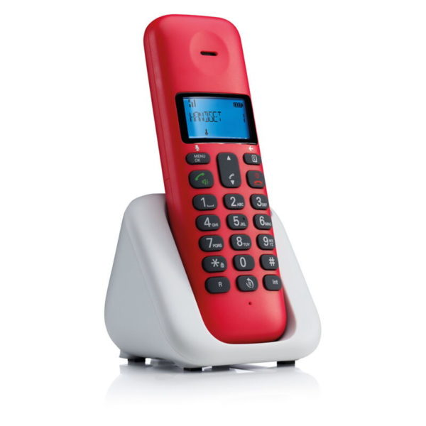 5514587-9247-Motorola T301 Cherry (Ελληνικό Μενού) Ασύρματο τηλέφωνο με ανοιχτή ακρόαση