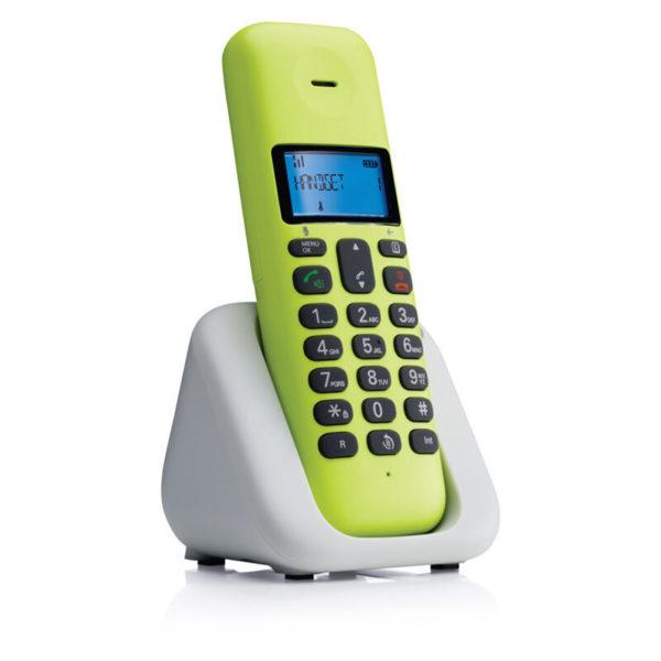5514587-9246-Motorola T301 Lime Lemon (Ελληνικό Μενού) Ασύρματο τηλέφωνο με ανοιχτή ακρόαση