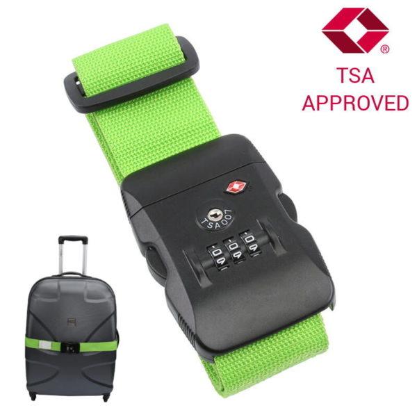 551106550-0002-Olympia TSA 200 Ιμάντας ασφαλείας αποσκευών με συνδυασμό TSA Approved Πράσινος